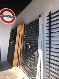(7) 5'x8' Powder Coated Black Fence Panels