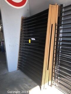 (21) 6'x8' Powder Coated Black Fence Panels