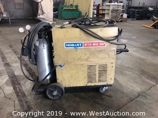Hobart Beta-Mig 200 Welder With Carbon Dioxide Tank And Accessories