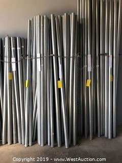 "(39) 2 3/8""x7' Galvanized Steel Fence Posts"