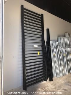 (4) 4'x10' Powder Coated Black Fence Panels