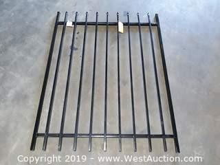 4' W x 5' H  Powder Coated Black Gate