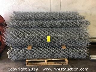"(9) Coils Of 71"" Chain Link Fencing"