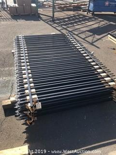(11) 5'x8' Spear Top Fence Panels