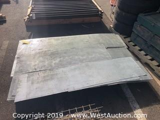 Pallet: (15+) Pieces Of Perforated Sheet Metal