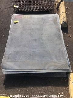 Pallet: (10+) Pieces Of Perforated Sheet Metal