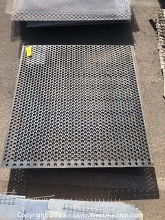 Pallet: (2) Pieces Of Perforated Sheet Metal