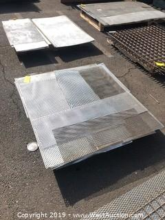 Pallet: (30+) Pieces Of Perforated Sheet Metal