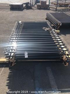 (13) 5'x8' Spear Top Fence Panels