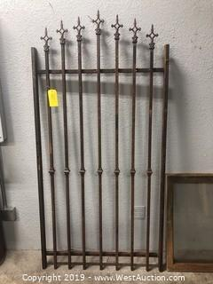 "Vintage Steel Fence or Gate Panel 38""x77"""