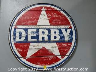 "Custom 43"" Wooden Derby Sign"