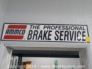 """34"""" Wide Ammco Brake Steel Sign"""