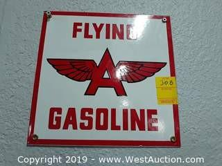 "10"" Flying A Gasoline Sign"