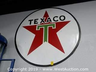 Custom Made 4' Steel Texaco Sign