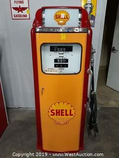 1956 National A-360 Shell Vintage Gas Pump