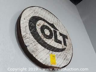 """Custom 16"""" Wood Colt Sign"""