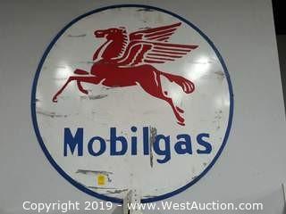4' Custom Steel Mobil Gas Sign