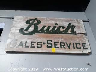 "40""x22"" Custom Wood Buick Sign"