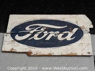 "40""x24"" Custom Wood Ford Sign"