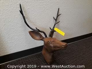 Bronze Deer Head