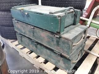 (3) Wood Ammo Crates