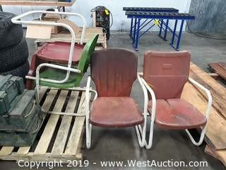 (4) Vintage Steel Chairs