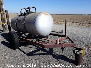 240 Gallon Propane Tank Trailer With Torch