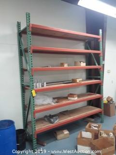 (1) section of 9' product racking