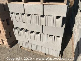 6x8x16 T/G Sm/Sm Grey Precision Fence Block