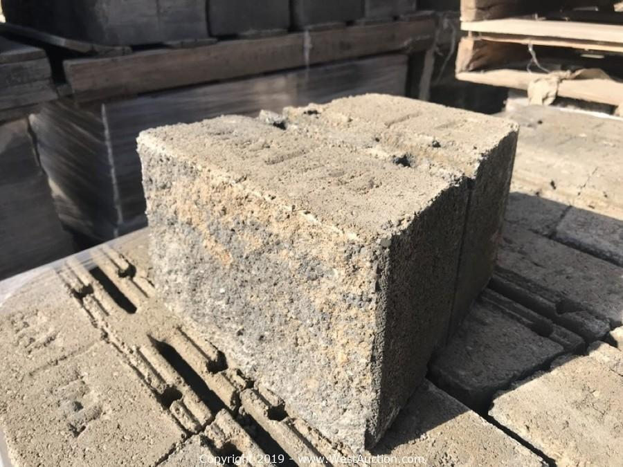 Online Auction of Patio Pavers and Concrete Retaining Wall Blocks for Sale in Dixon, CA