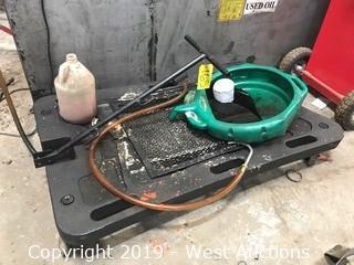 Oil Drain Cart