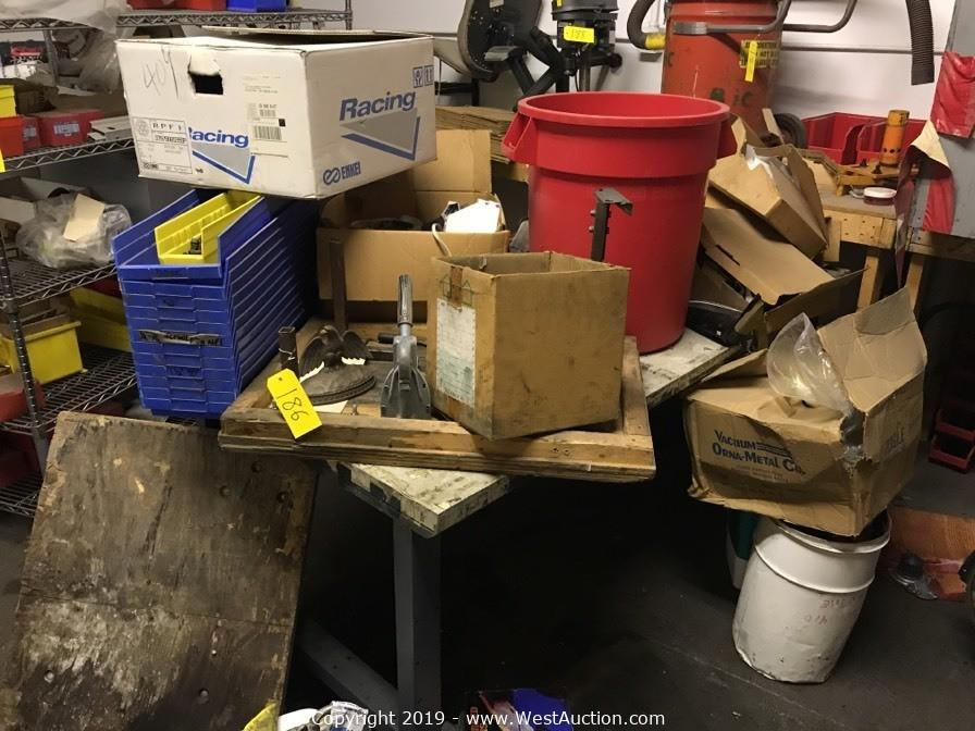 Online Tenant Abandonment Auction of Machinery and Tools