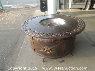 Round Patio Propane Fire Pit with Tank