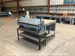 Roper Whitney U416 Connecticut 4' x 16 Gauge Bending Brake (Table Included)