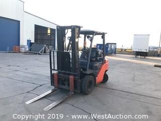 Toyota 4,500 lb Capacity Propane Forklift