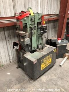 Edwards Jaws Jr. 25 Ton Hydraulic Ironworker