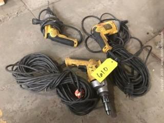 (3) Electric Dewalt Screw Guns