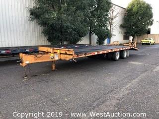 2007 Econo Carrier  HD 20 Ton Dovetail 21.5' Trailer