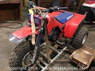 1985 Honda 3-Wheel 350X ATV