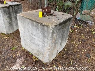 Cement Counter Weight (Approx. 2-Ton)