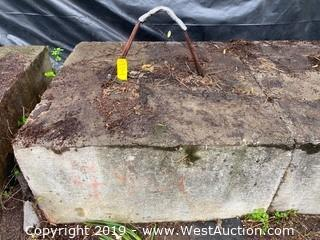 Cement Counter Weight (Approx. 2-1/4 Ton)