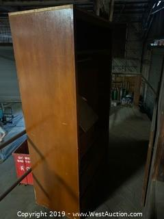 Wood Wardrobe with Drawers