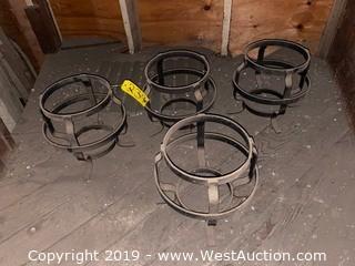 (4) Steel Garden Pot Holders