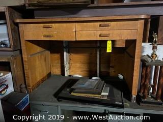 Wooden 4 Drawer Desk