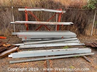 Approx. (60) Assorted Size/Style Galvanized Edging Pieces