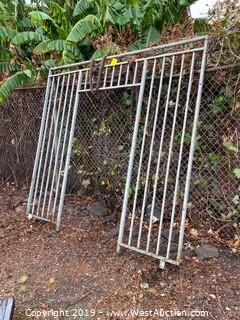 Galvanized Steel Security Gate Frame
