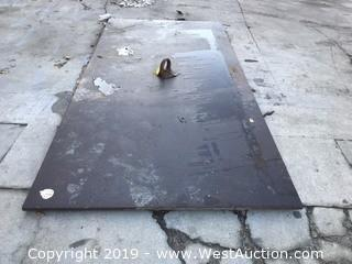 (1) Steel Trench Plate 5ft X 10ft