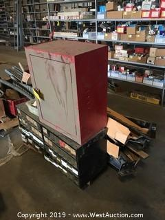 Pallet with Hardware Organizer, Crossbeams, and More