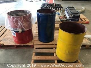 (3) Drum Barrels