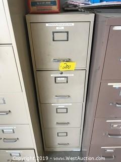 "52""x16""x18"" 4-Drawer Filing Cabinet"